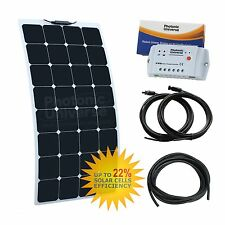 100W 12V Kit De Carga Solar flexibles etilenotetrafluoretileno Autocaravana, Caravana, Camper, barco/yate