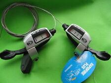 SL-T660 Schalthebel Shifter Set Shimano Deore LX 3x9 silber mit Zug Neu