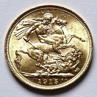 1915 S BRITISH KING GEORGE V SYDNEY MINT FULL SOVEREIGN