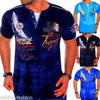 ZAHIDA Herren T-Shirt Clubwear Shirt V-Neck Polo Designer M L XL XXL St.Tropez