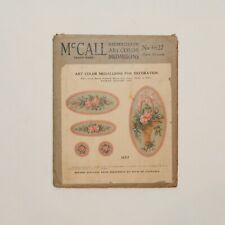 Vintage McCall Art Color Medallions for Decoration No 1627 + 1 Other Set RARE!