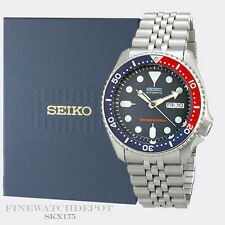 Authentic Seiko Diver's Stainless Steel Blue Dial Watch SKX175
