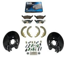 2 X REAR BRAKE DUST SHIELD + PADS + SHOES + HARDWARE for CHRYSLER VOYAGER 01-07
