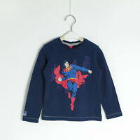 NEW Kids Boys Superman Batman Hero TEE Long Sleeve TOP T-Shirt Size 2.3.4.5.6.7