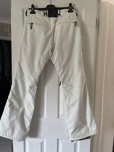 Womens BONFIRE snowboard Ski Bottoms Winter trousers Size M 32W Cream Designer