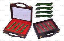 GREEN HAND STRIPPING KNIFE CAT DOG PET GROOMING COMB HAIR 4 PIECE COARSE F,S,M