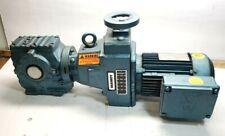 SEW EURODRIVE 1 HP AC ELECTRIC BRAKE MOTOR W/ 20-102 RPM GEAR MOTOR 230YY/460Y