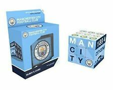 MANCHESTER CITY RUBIK'S CUBE Football Team Brain Teaser Puzzle Man City Gift