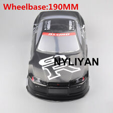 190MM Painted PVC Body Shell 020GR For 1/10 RC Model On Road Drift Racing Car