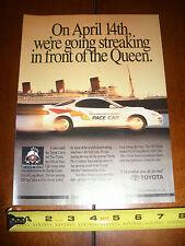 1991 TOYOTA CELICA PACE CAR GRAND PRIX LONG BEACH QUEEN MARY - ORIGINAL AD