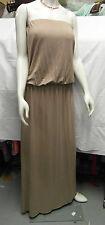 BNWT SUMMER / BEACH MAXI DRESS BY RAINA 'KAYLA' STRAPLESS TAUPE SMALL UK 8-10