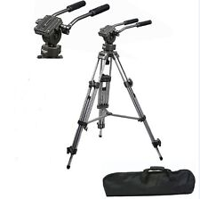 Photo Professional DSLR Camera Heavy Duty Pan Tilt Tripod Stand Fluid Head Bowl