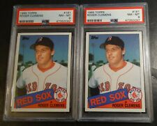 LOT OF (2) 1985 ROGER CLEMENS TOPPS ROOKIE #181 PSA 9 RED SOX FUTURE HOF (397)