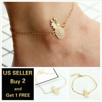 Pineapple Beach Gold Anklet Ankle Bracelet Foot Chain