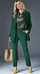 New Kaleidoscope Double Breasted Tailored Jacket Blazer Emerald Green Size UK 18