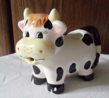 Houston Harvest Black & White Cow Creamer