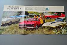 1960's General Motors GM Advert Brochure Camaro SS/Corvette 427/Pontiac GTO