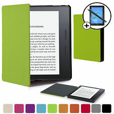 Vert Housse Étui Intelligent Portefeuille Coque pour Kindle Amazon Oasis+