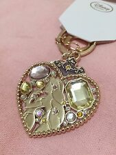 NEW Disney Store Japan Crystal Dream Tangled Rapunzel Jeweled Gold Keychain