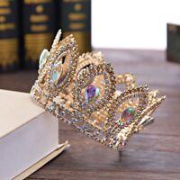 Crystal Tiara Bridal Crown Bride Rhinestone Hair Headband Pageants Wedding Queen