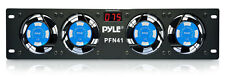 """NEW PYLE PRO PFN41 19"""" Rack Mount Cooling 4 Fan System w/Temperature LED Display"""
