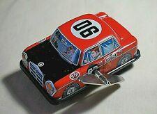 "Vintage Tin Toy Sanko Japan Metal 3"" Wind Up Auto Turn Benz Mercedes Car Vehicle"
