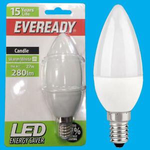 4x 4W (=27W) LED Candle Warm White 3000k SES E14 Small Edison Screw Light Bulb