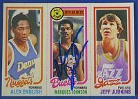 MARQUES JOHNSON signed autograph 1980-81 Topps Milwaukee Bucks
