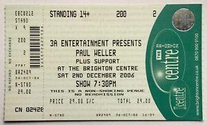Paul Weller Original Unused Concert Ticket The Brighton Centre 2nd Dec 2006