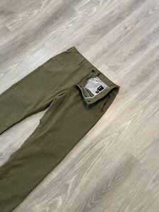 Hurley Nike Dri Fit Men's Green Stretch Golf Casual Pants Size 34 x 32