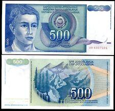 YUGOSLAVIA 500 DINARA 1990 P 106 UNC