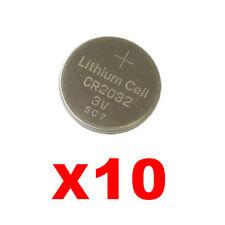 10 litio Batterie a al bottone CR2032 3V orologi PORTACHIAVI AUTO pz 2x 5 tl