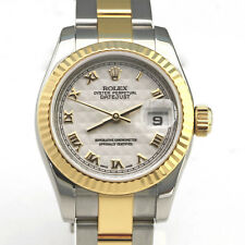 Rolex Ladies Datejust -18k & Stainless Steel - Ivory Pryamid Face - Model 179173