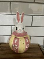 Carnival Cottage  By Johanna Parker & Magenta Easter Bunny Canister/NWT