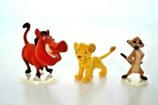 "Disney Lion King Simba,Timon Meercat & Pumba Warthog Figures/Cake Topper,1"" Tall"
