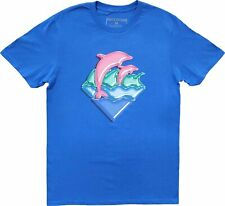 Pink Dolphin Clothing Blue Dolphin Logo Cotton T-Shirt Tee New Men's