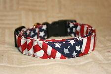 Waving American Flags Dog & Cat Collars