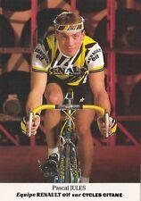 CYCLISME carte cycliste PASCAL JULES équipe RENAULT ELF 1985