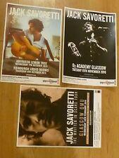 Jack Savoretti - Scottish tour concert gig posters x 3