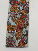 Vintage Rooster Ties Neckties Square Ties With Rooster Vintage 54 inch