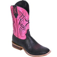 Twisted X Men's Hooey Black & Pink Boots MHY0005