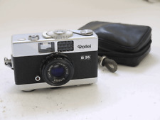 Rollei B35 35mm compact, chrome, with Carl Zeiss 40mm f3.5 Triotar, strap, case