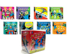 DC Super Heroes: Ultimate DC Super Hero Board Book Collection ABC 123,Colors+NEW