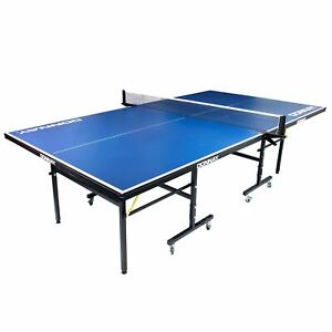 Donnay Indoor Outdoor Table Tennis Ping Pong Table Blue Full Size Adjustable