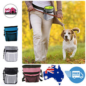 Dog Treat Pouch Bag Puppy Training Obedience Free Hints Pink Blue Black Grey