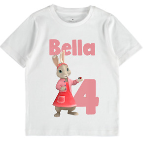 Personalised Peter Rabbit Birthday TShirt Girls Toddlers clothes tops cute lilly