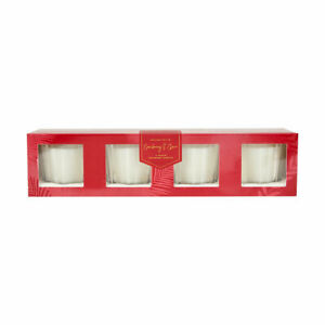 4 Votive Fragrant Candles Cranberry and Clove Fragranc for Soothing Ambience S1
