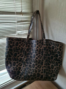 EXTRA LARGE  LE0PARD PRINT  TOTE /, BEACH BAG