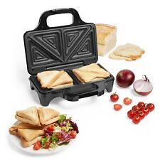 VonShef Toastie Maker 2 Slice Sandwich Toaster Machine Non-Stick Easy Clean