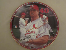MARK McGUIRE Baseball Collector Plate FULL SPEED TO 40   Home Run Hero